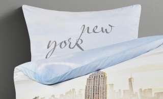 LAVIDA Renforcé Bettwäsche  New York ¦ blau ¦ reine Baumwolle ¦ Maße (cm): B: 135 Bettwaren > Bettwäsche-Sets > Kinder-Bettwäsche-Sets - Höffner