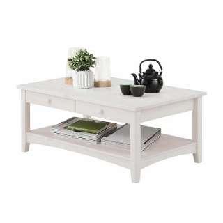 Holztisch in Weiß lasiert Wohnzimmer
