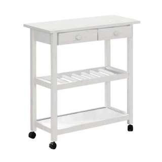 Küchenrollwagen in Weiß lasiert 80 cm breit