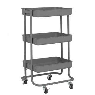 Küchenrollwagen in Grau Metall