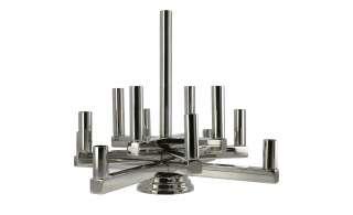 Kerzenständer ¦ silber ¦ Stahl ¦ Maße (cm): H: 33 Ø: 45 Dekoration > Kerzen & Lichter > Kerzenständer - Höffner