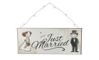 Deko Schild  Just Married ¦ weiß ¦ Maße (cm): B: 30,5 H: 13 Dekoration > Bilder & Schilder - Höffner