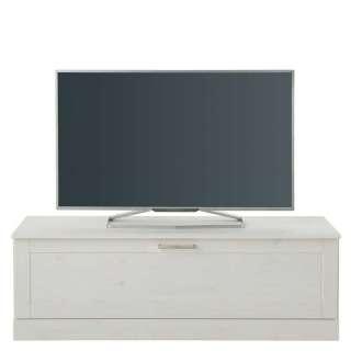 TV Unterschrank in Weiß lasiert Klappe