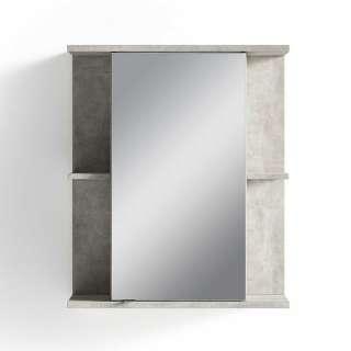 Badezimmer Spiegelschrank in Beton Grau 60 cm breit