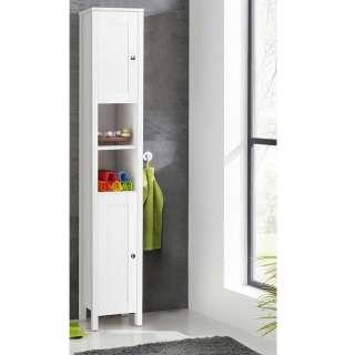 Badezimmerschrank in Weiß 180 cm hoch