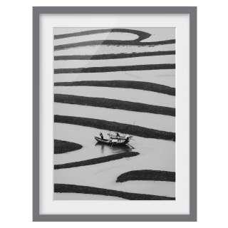 Kleines Sideboard in Grau Weiß 80 cm breit