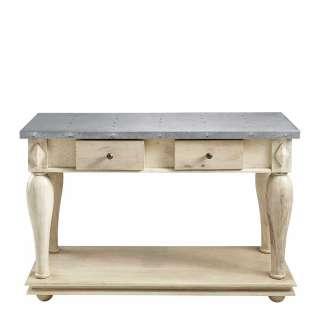 Tischkonsole in Creme Weiß Vintage Design