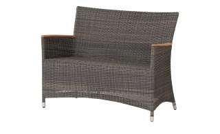 Zebra Sofa, 2-Sitzer   Status ¦ grau ¦ Aluminium pulverbeschichtet/ PE-Geflecht ¦ Maße (cm): B: 120 H: 86 T: 61 Garten > Gartenmöbel > Gartenbänke - Höffner