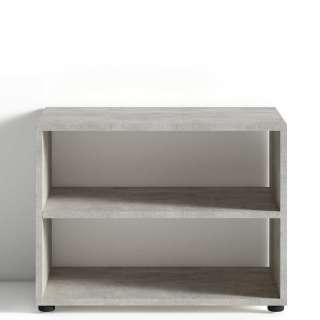 TV Regal in Beton Grau 45 cm hoch