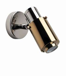 DCW éditions - BINY SPOT Wandleuchte - nickel/gold - indoor
