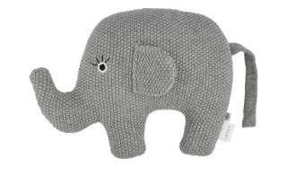 Kuscheltier  Little Elefant ¦ grau ¦ Füllung aus 100% Polyester, Bezug aus 100% Baumwolle (gehäkelt) ¦ Maße (cm): B: 20 H: 16 Baby > Baby Textilien > Baby Bettwaren - Höffner
