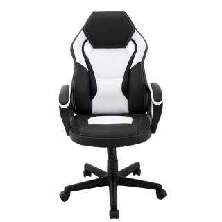 Schreibtischsessel in Schwarz und Weiß Lendenwirbelstütze