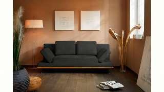 Sitzbank Calada IV - Kunstleder / Metall - Schwarz / Chrom - 132 cm, mooved