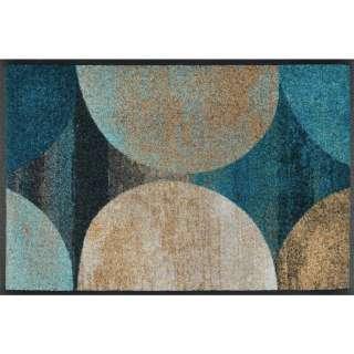 FUßMATTE 40/60 cm Graphik Blau, Grau