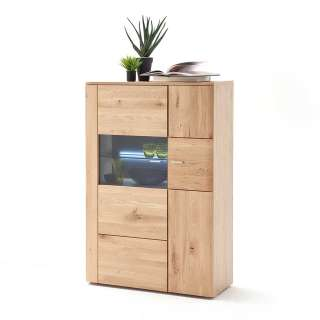 Esszimmer Highboard in Eiche Bianco massiv geölt 90 cm breit