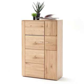 Highboard in Eiche Bianco massiv geölt 90 cm breit