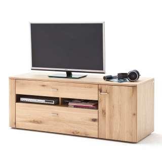 Fernsehboard in Eiche Bianco massiv geölt 150 cm breit