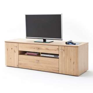 Fernseh Unterschrank in Eiche Bianco massiv geölt 180 cm breit