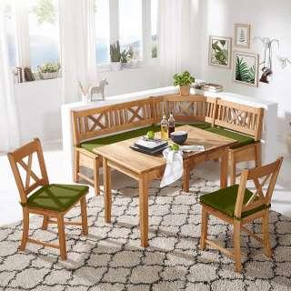 Kücheneckbankgruppe aus Wildeiche Massivholz Landhaus Design (4-teilig)