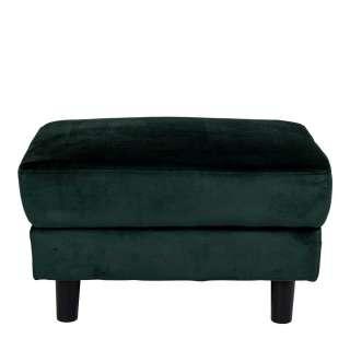 Couchhocker in Dunkelgrün Samt Skandi Design