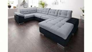 Wohnzimmerliege in Braun Leder modern