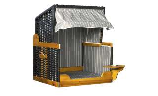 Hundestrandkorb  Wuff ¦ schwarz ¦ Maße (cm): B: 80 H: 65 T: 95 Garten > Garten Lounge-Möbel > Strandkörbe - Höffner