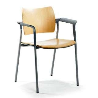 Armlehnstuhl in Buchefarben und Silberfarben Made in Germany