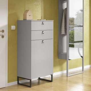 Garderobenschuhschrank in Beton Grau Made in Germany