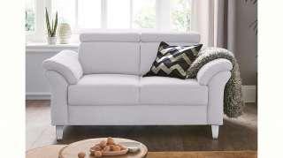 Wohnzimmer Highboard in Weiß mit Esche massiv