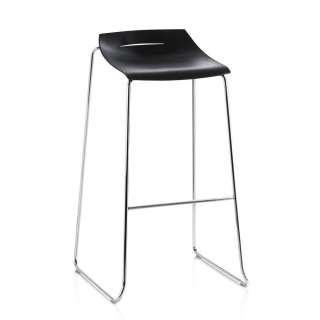 Tresenstuhl in Dunkelgrau Kunststoff 90 cm hoch