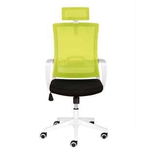 Bürostuhl in Hellgrün und Schwarz verstellbarer Rückenlehne