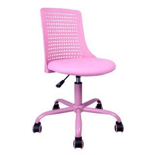 Kinderschreibtischstuhl für Mädchen Pink Kunstleder