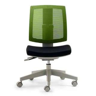 Schreibtisch Drehstuhl in Grün und Schwarz Meshrücken