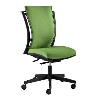 Schreibtischdrehstuhl in Grün Webstoff Lendenwirbelstütze