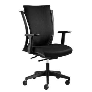 Bürostuhl in Schwarz Webstoff hoher Lehne und verstellbaren Armlehnen