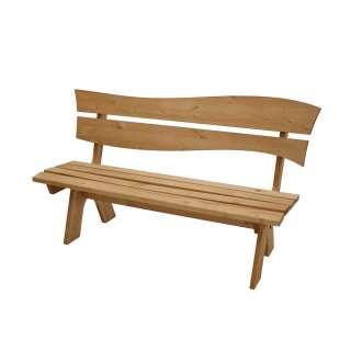 Terrassen Sitzbank aus Kiefer Massivholz Landhausstil