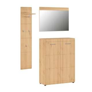 Garderoben Set in Buchefarben 120 cm breit (3-teilig)