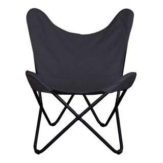 Retro Sessel in Schwarz Webstoff modern