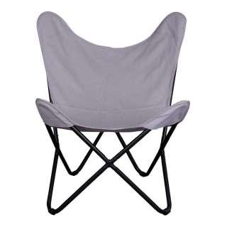 Schmetterling Sessel in Grau Webstoff Retrostil