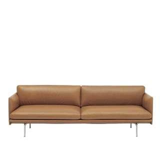 Muuto - Outline Sofa - 3 Sitzer - Cognac silk leather - indoor