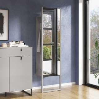 Garderobenpaneel mit Spiegel Beton Grau