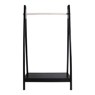Garderobe in Schwarz 95 cm breit und 170 cm hoch