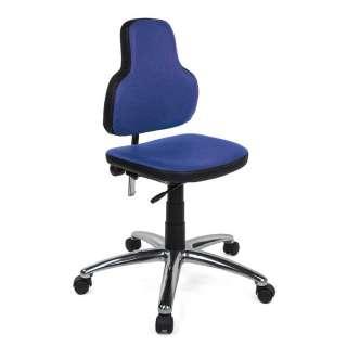Bürostuhl in Blau Webstoff verstellbarer Lehne
