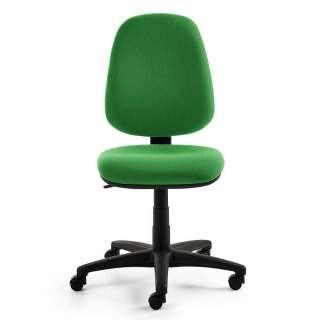Schreibtischsessel in Grün Webstoff höhenverstellbar