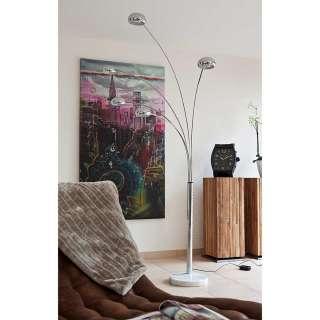Design Stehlampe in Chromfarben 5 Schirmen