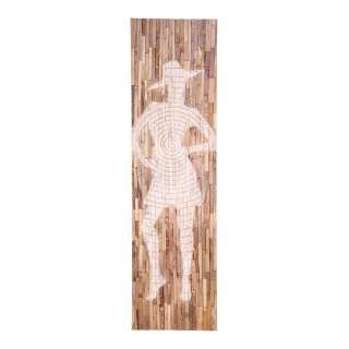 Wandeko aus Recyclingholz modischem Damen Motiv