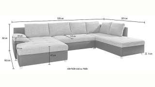sit&more Wohnlandschaft »Labene«, wahlweise mit Bettfunktion und Bettkasten