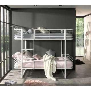 Kinderdoppelstockbett in Weiß Metall