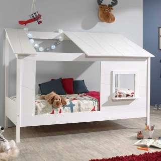 Teilmassives Kiefernbett für Kinderzimmer Dach