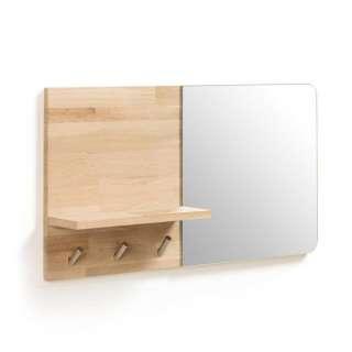 Mini Garderobe in Eichefarben Spiegel